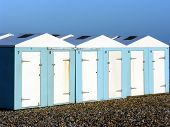 Beach Huts At Eastbourne