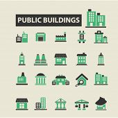 Постер, плакат: business buildings icons business buildings logo business buildings vector business buildings fla