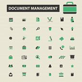 Постер, плакат: document management icons document management logo document management vector document management