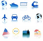 Global Travel Icons poster