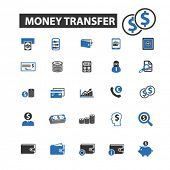 Постер, плакат: money transfer icons money transfer logo money transfer vector money transfer flat illustration c