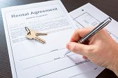 Rental agreement contract to sign poster
