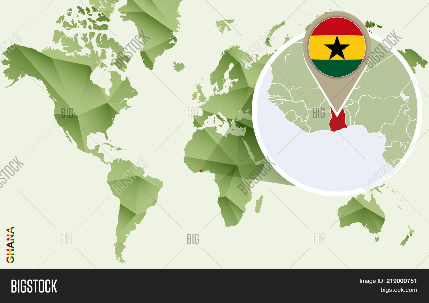 Infographic Ghana Detailed Map Vector Photo Bigstock - Ghana map vector