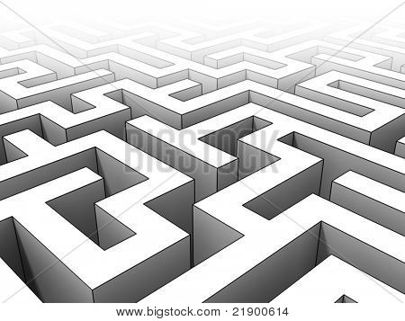 fine 3d maze background toon style
