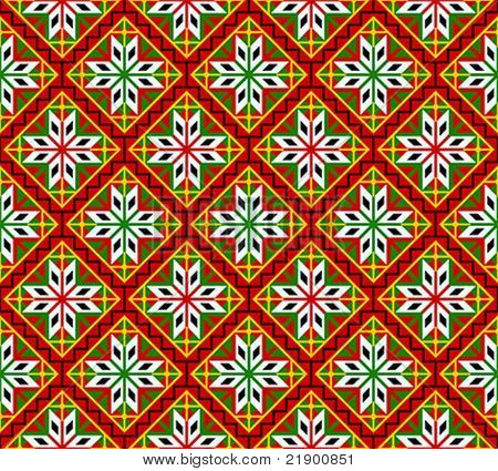 Norwegian seamless traditional bunad dress pattern