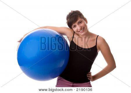Fitness Mädchen üben