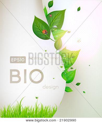 Bio conceito design eco amigável para banner floral de Verão