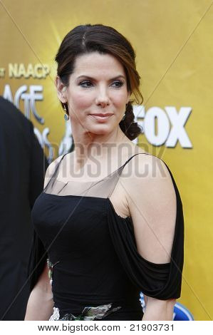LOS ANGELES - FEB 26: Sandra Bullock arriving at the 41st NAACP Image Awards - held at the Shrine Auditorium in Los Angeles, California on February 26, 2010