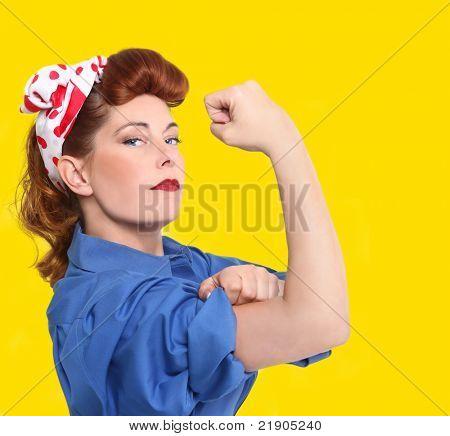 1950 Era la imagen icónica de un obrero femenino