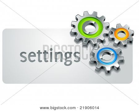 settings icon template part with gears