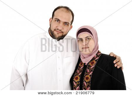 Muslim arabic couple