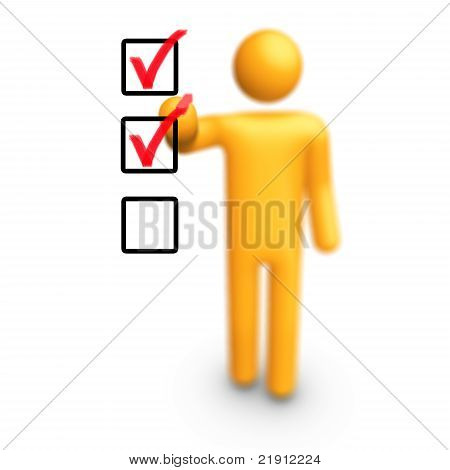 Stick Figure With Checklist