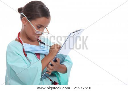 Child dressed as a surgeon