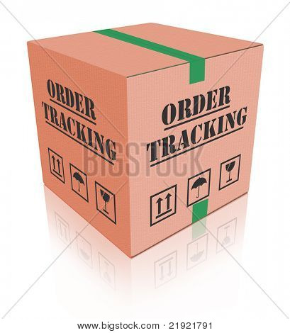 order tracking online shipment evaluation cardboard box shipping