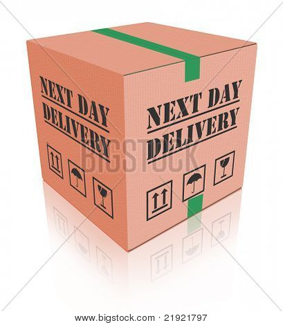 next day delivery urgent package shipment deliver shopping order cardboard box sending or shipping internet orders from web shop