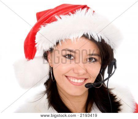 Representante de servicio al cliente de Navidad