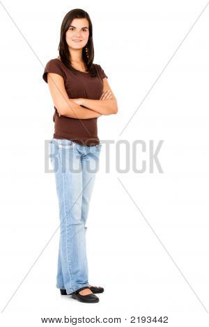 Casual Girl Standing