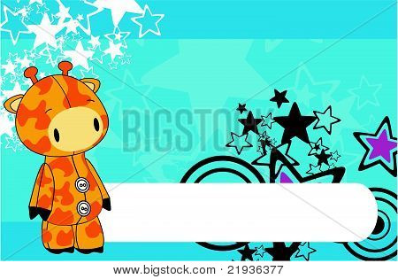 giraffe cartoon plush background