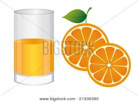 Glass Of Juice Orange