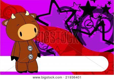 bull cartoon plush background