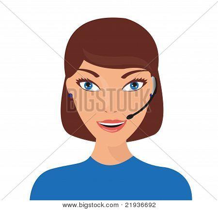 woman receptionist