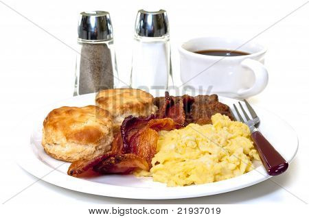 Big Country Breakfast Isolated