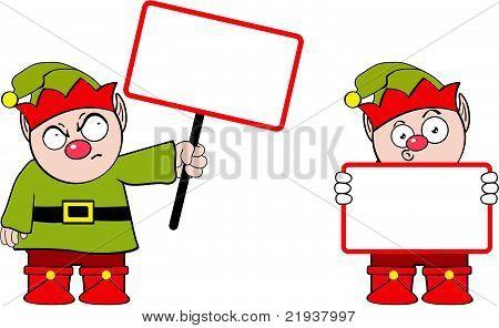 elf cartoon singboard