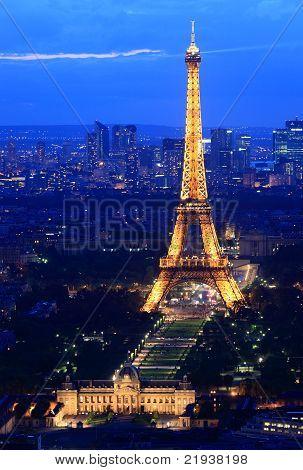 Eiffel Tower Paris Night