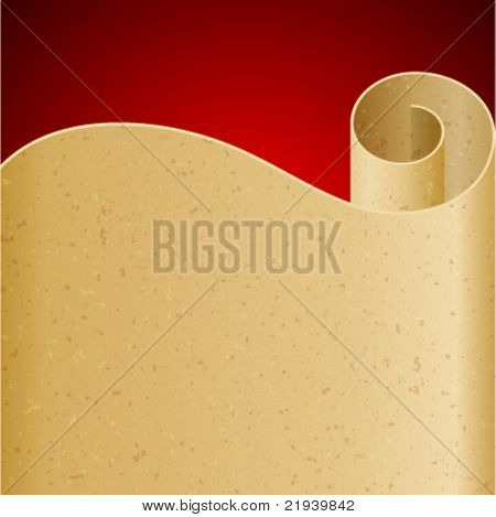 Vintage scroll paper vector background with place for text.. Eps 10.