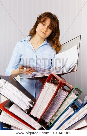 Female Accountant And Financial Documentation