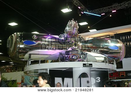 "SAN DIEGO, CA - JULY 20: A giant prop from the ""Men in Black"" movies is on display during preview night at the 2011 Annual Comic Con International convention on July 20, 2011 in San Diego, CA"