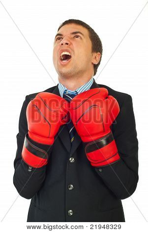 Upset Businessman Shouting