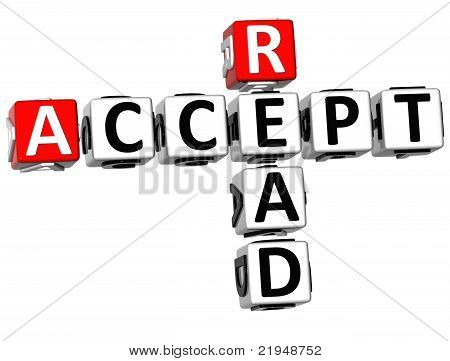 3D Accept Read Crossword