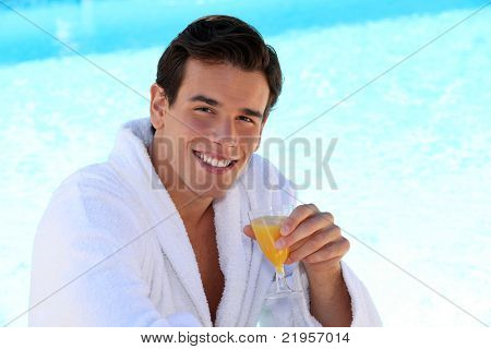 Guy by the pool