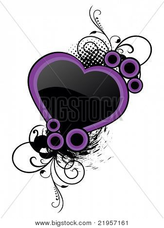 white background with isolated abstract grungy frame, vector illustration