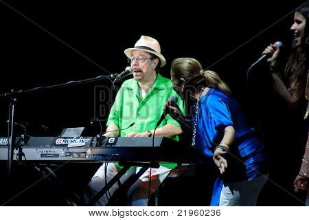 Sergio Mendes On Stage At Umbria Jazz Festival In Perugia, Italy