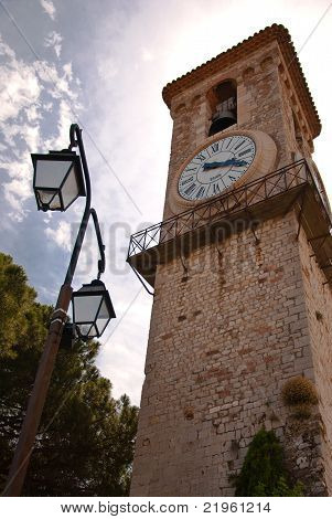 Clock Tower In Church Notre-dame De Esperance In Cannes