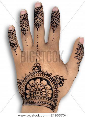 Henna hena mehendi design - isolated natural nails