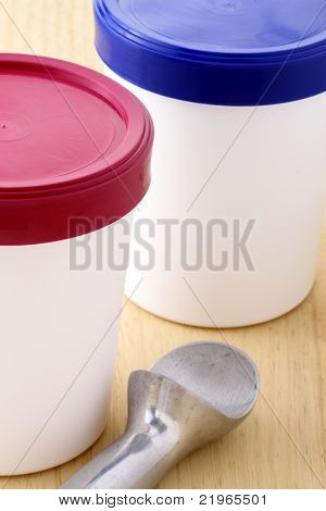 Ice Cream Buckets And Antifreeze Scoop