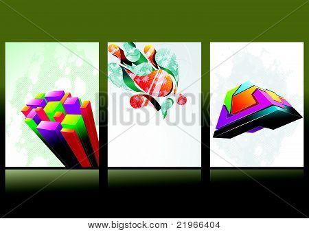 Abstract header vector set.