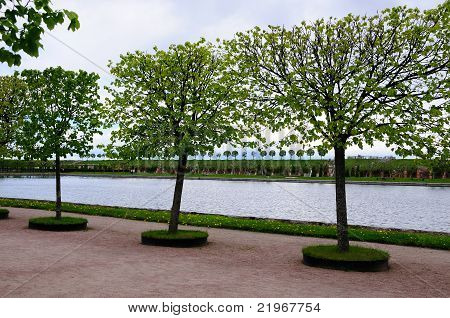 Primavera no Parque de Peterhof (São Petersburgo, Rússia)