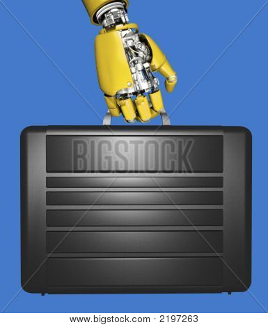 Robot Hand And Briefcase