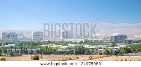 Panoramic Aerial shot of Irvine, California  Business Park