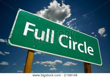 """Full Circle"" Road Sign"
