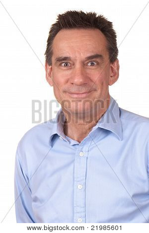 Attractive Man with Silly Smile and Funny Face