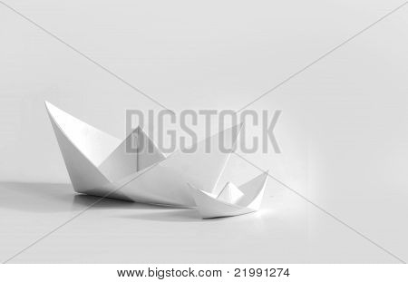 Two Paper Boat (Origami Art)