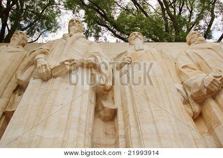 Reformation Wall In Bastions Park, Geneva, Switzerland