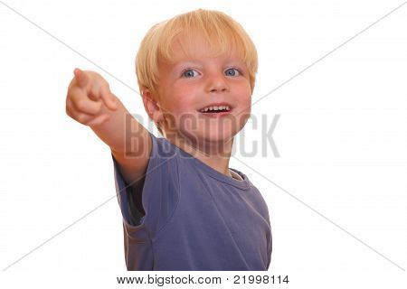 Boy Points At You