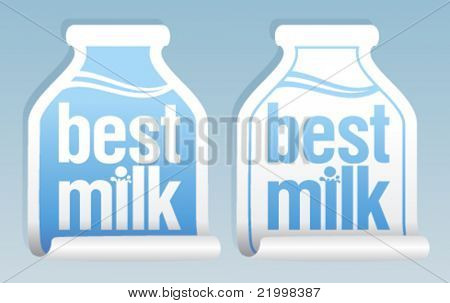Best milk stickers in form of jug.