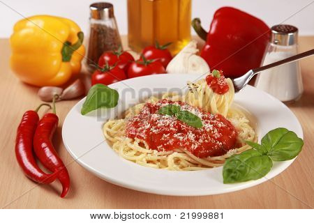 Fresh Spaghetti Meal